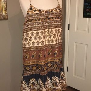 Forever21 shift dress gold black and brown